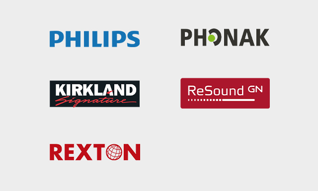 PHILIPS,Rexton,Phonak,ReSound,Kirkland Signature