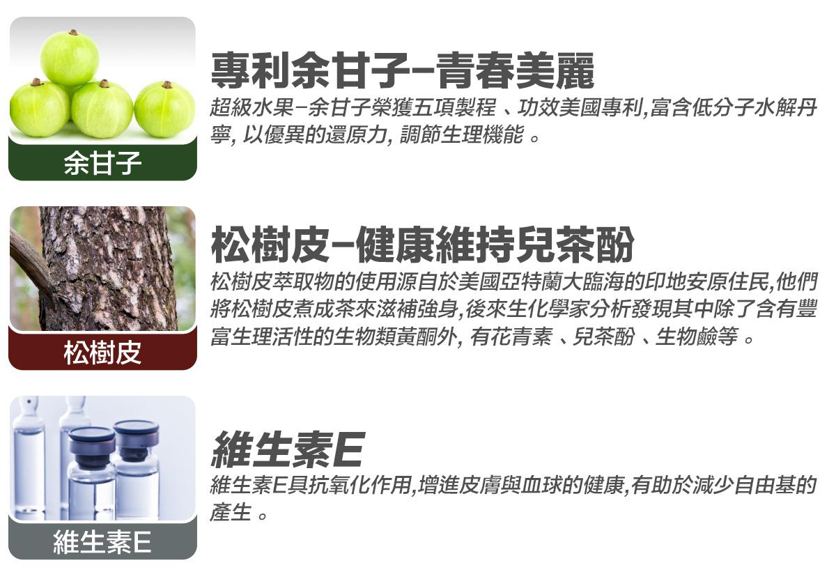 WEIDER 威德紅酒複方精萃,專利余甘子青春美麗,松樹皮健康維持兒茶酚,維生素E。