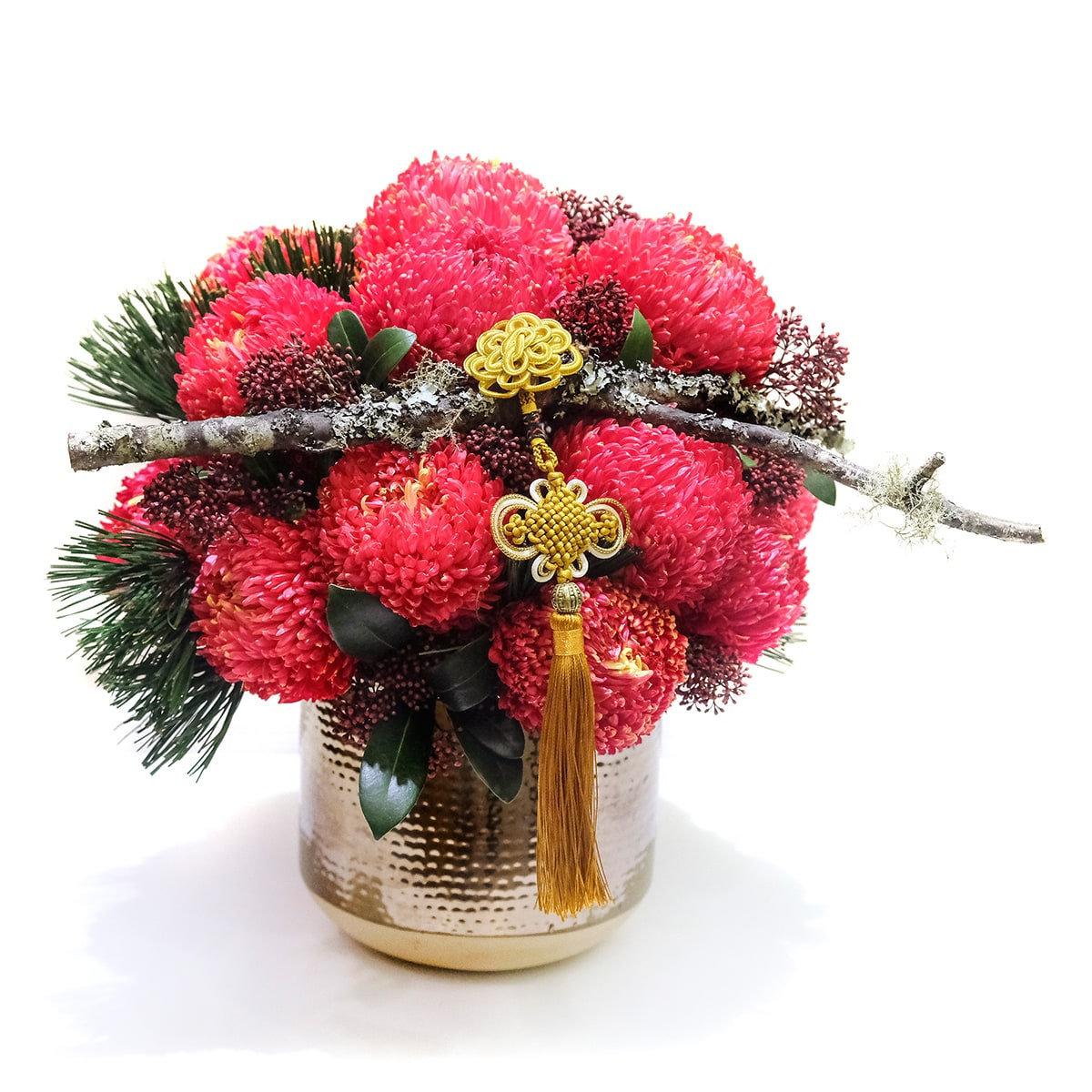 一禮莊園過年牡丹菊中盆花