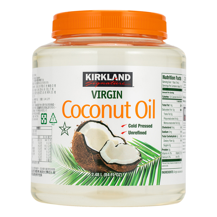 Kirkland Signature 科克蘭 冷壓初榨椰子油 2381 公克 | Costco 好市多線上購物