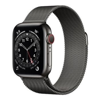 Apple Watch Series 6 (GPS+行動網路) 40 公釐不鏽鋼錶殼搭配米蘭式錶環 Apple Watch Series 6 (GPS+Cellular) 40mm Gold Stai..