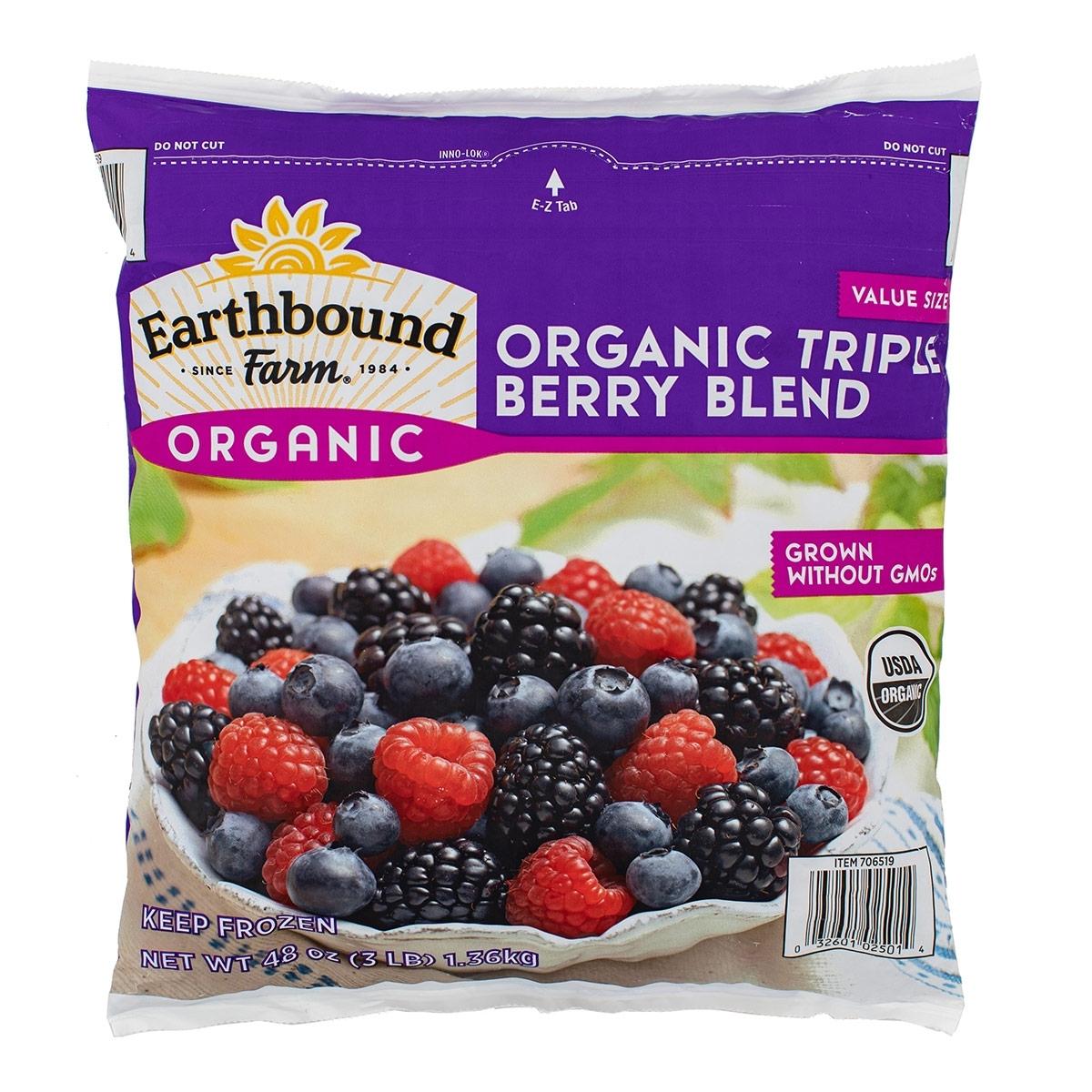 Earthbound Farm冷凍有機三種綜合莓