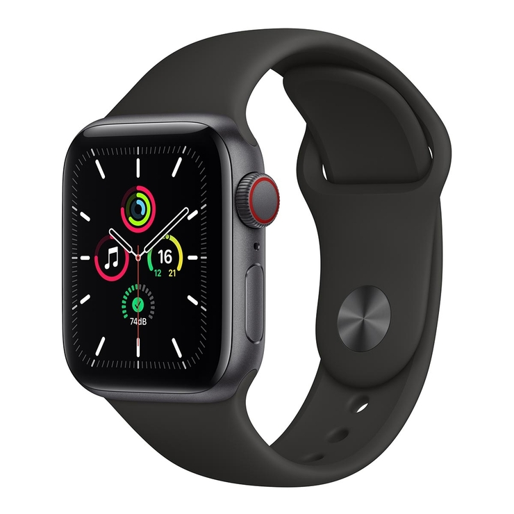 Apple Watch SE (GPS+行動網路) 40 公釐鋁金屬錶殼搭配運動型錶帶 Apple Watch SE (GPS+Cellular) 40mm Aluminium Case with Sport Band-Costco
