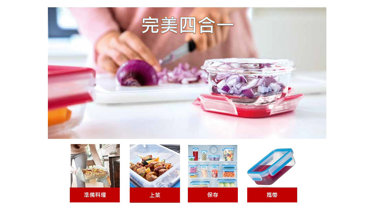 Tefal 法國特福 無縫膠圈塑膠保鮮盒,含蓋共12件組,準備料理,上菜,保存,攜帶。
