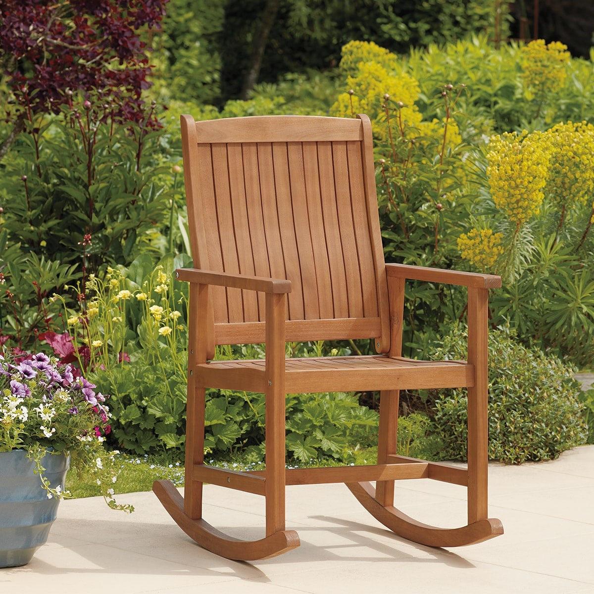 戶外木製搖椅
