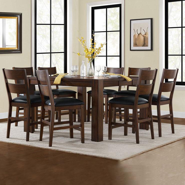 Bayside 吧檯餐桌椅九件組