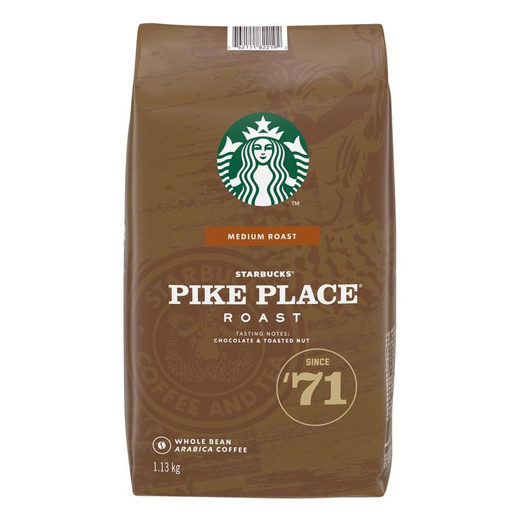 Starbucks 派克市場咖啡豆 1.13公斤 Starbucks Pike Place Roast Whole Bean Coffee 1.13kg-Costco
