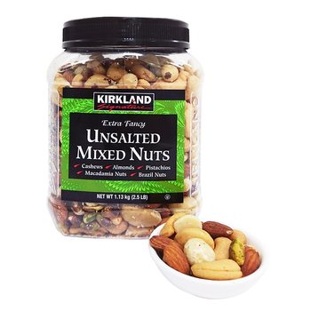 Kirkland Signature 科克蘭香烤綜合堅果 1.13公斤 Kirkland Signature Unsalted Mixed Nuts 1.13KG-Costco