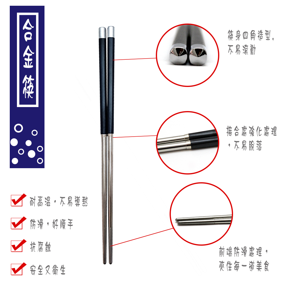 西海輕量波佐見燒飯碗及合金不鏽鋼筷各5組,合金筷為四角筷身,耐高溫、防滑、耐腐蝕,安全又衛生。