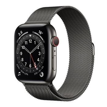 Apple Watch Series 6 (GPS+行動網路) 44 公釐不鏽鋼錶殼搭配米蘭式錶環 Apple Watch Series 6 (GPS+Cellular) 44mm Gold Stai..