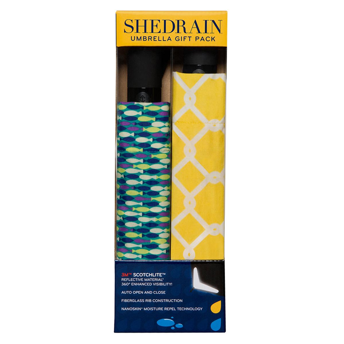 SHEDRAIN自動伸縮雨傘二件組