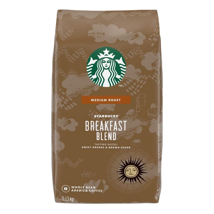 Starbucks Breakfast Blend 早餐綜合咖啡豆 1.13公斤 Starbucks Breakfast Blend Whole Bean Coffee 1.13kg-Costco