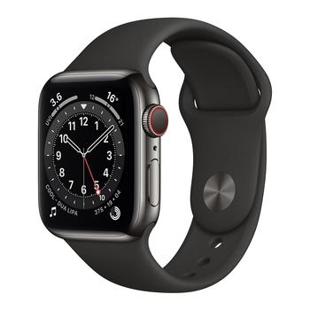 Apple Watch Series 6 (GPS+行動網路) 40 公釐不鏽鋼錶殼搭配運動型錶帶 Apple Watch Series 6 (GPS+Cellular) 40mm Stainless..