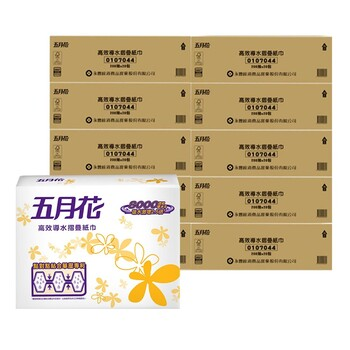五月花 摺疊擦手紙 200抽 X 20包/組 May Flower Folded Hand Towel 200 Sheets X 20 Count/Pack-Costco