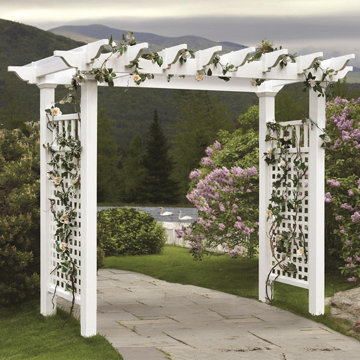 戶外寬型拱門式爬藤架