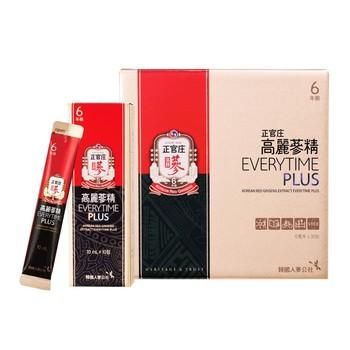 CKJ 正官庄高麗蔘精 Everytime Plus 10毫升 X 30包 CKJ Korean Red Ginseng Extract Everytime Plus 10ml X 30 Sachet..