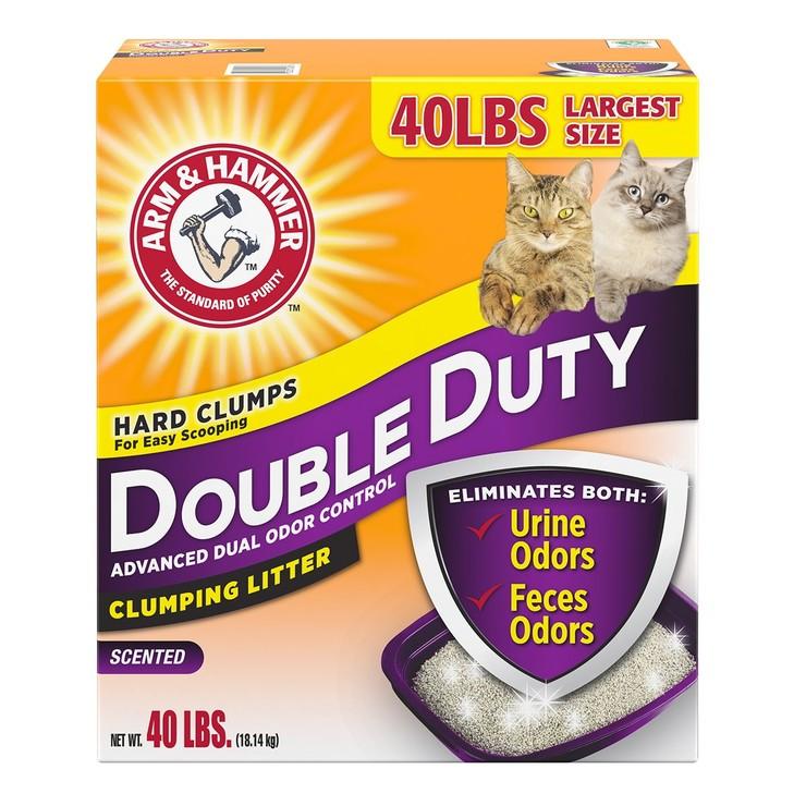ARM & HAMMER 加強除臭貓砂 18.14公斤 ARM & HAMMER Double Duty Cat Litter 18.14kg-Costco