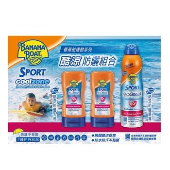 香蕉船 酷涼防曬組合 - 防曬乳液SPF50 PA++++ 120毫升2入+防曬噴霧SPF50+ PA+++ 170公克1入