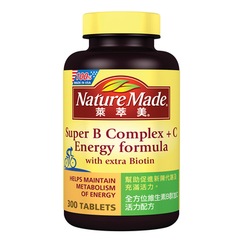 Nature Made 萊萃美 全方位維生素B群加C 活力配方 300 粒 Nature Made Super B Complex + C Energy Formula 300 Tablets-Cos..