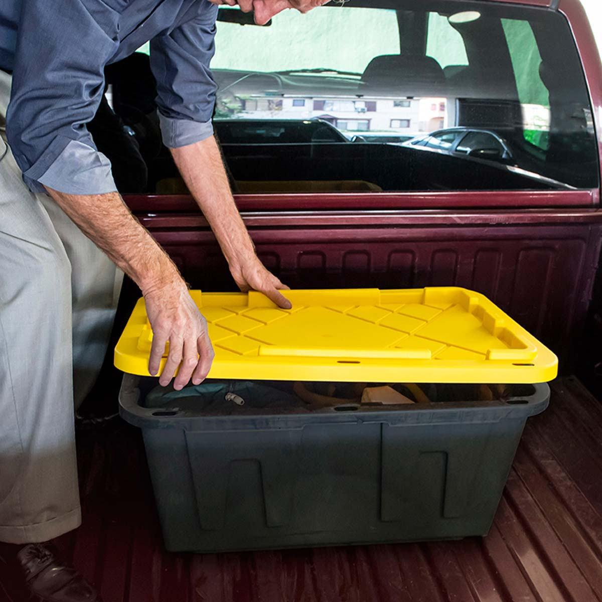 27 加侖/102 公升附蓋收納箱