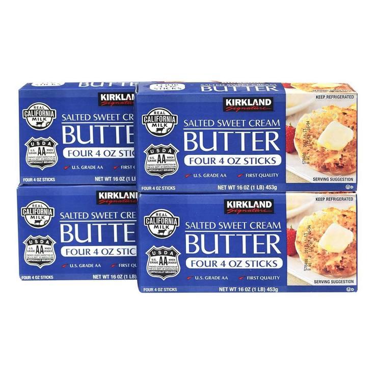 Kirkland Signature 科克蘭 含鹽奶油 453公克 X 4入 Kirkland Signature Salted Butter 453G X 4 Pack-Costco