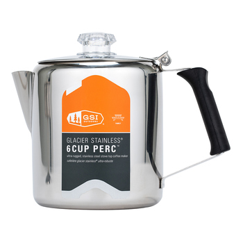 GSI Outdoors 不鏽鋼過濾咖啡壺 / 6杯量 GSI Outdoors Glacier Stainless Steel Percolator / 6-Cup-Costco