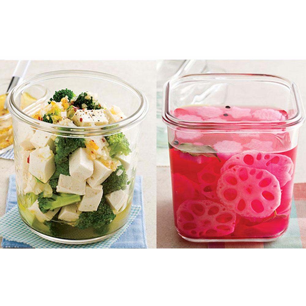Glasslock 密封罐含蓋不可直接用火加熱,可冷藏,微波,用洗碗機清洗。