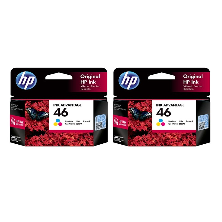 HP 46 彩色墨水匣 二入組 HP 46 Tri-Color Ink Cartridge 2PK-Costco