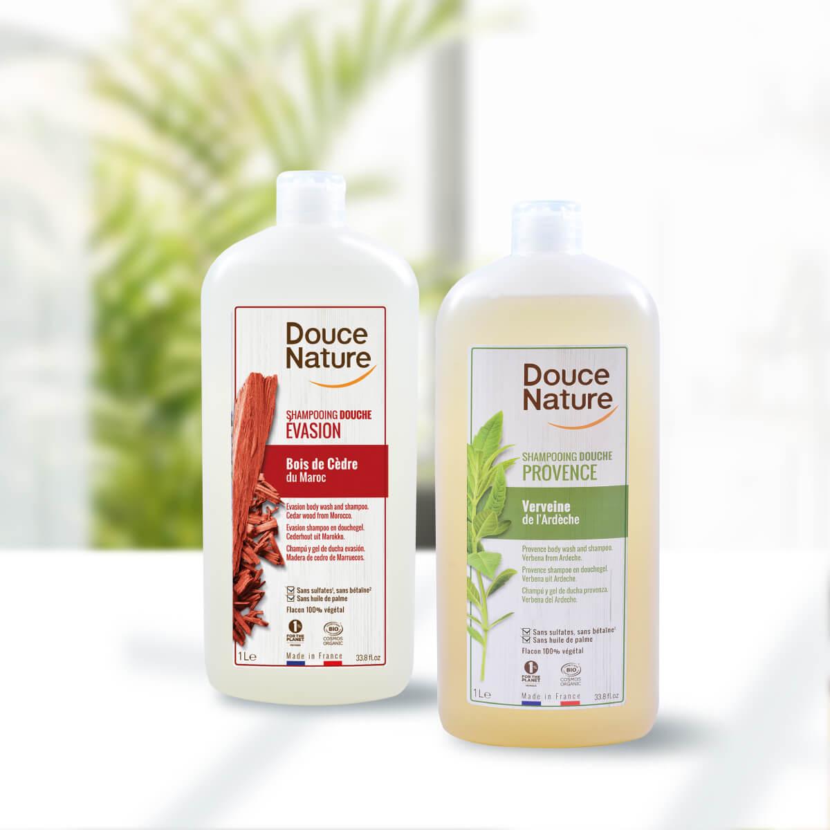法國Douce Nature地恩個人洗沐用品,只要一瓶可洗去身上髒污與煩躁,精油成分可調理肌膚,其香氣洗沐時可幫助睡前情緒放鬆,提供您親肌且環保的洗沐用品。