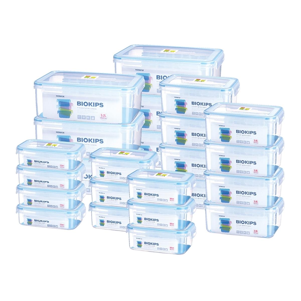 Komax 塑膠保鮮盒含蓋共48件組 長方形