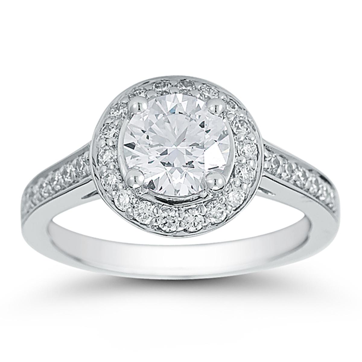1.49克拉明亮圓形鑽石鉑金戒指 VVS1, E