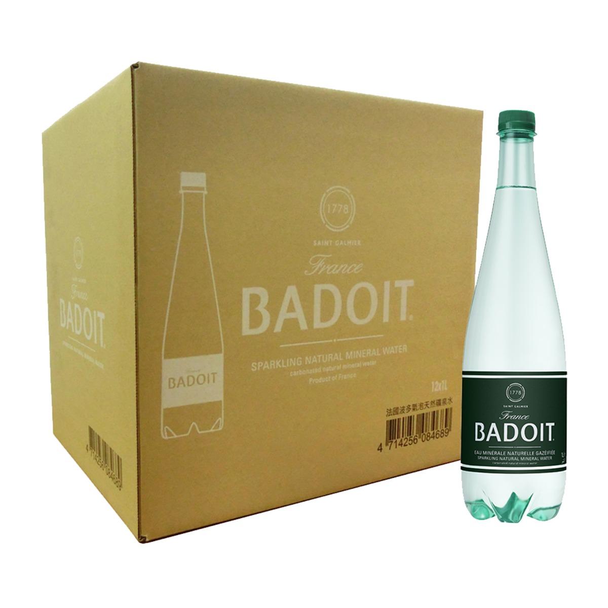 BADOIT 波多 氣泡天然礦泉水 1000毫升 X 12瓶