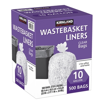 Kirkland Signature 科克蘭 垃圾袋 37.8公升 (58.4 x 63.5cm) 500入 Kirkland Signature Wastebasket Liners Trash B..