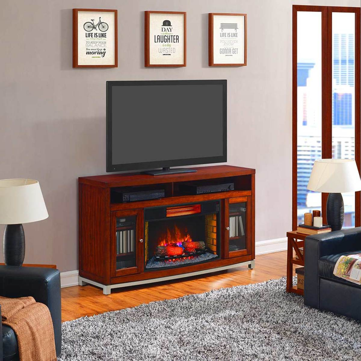 Twinstar 32 吋壁爐暖器電視櫃