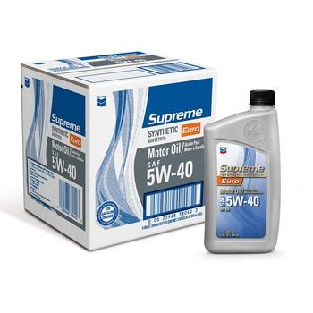 Chevron SN 5W-40 Euro 全合成機油 946ML X 6瓶 Chevron Supreme SN 5W-40 Euro Synthetic Motor Oil 946ML X 6 C..