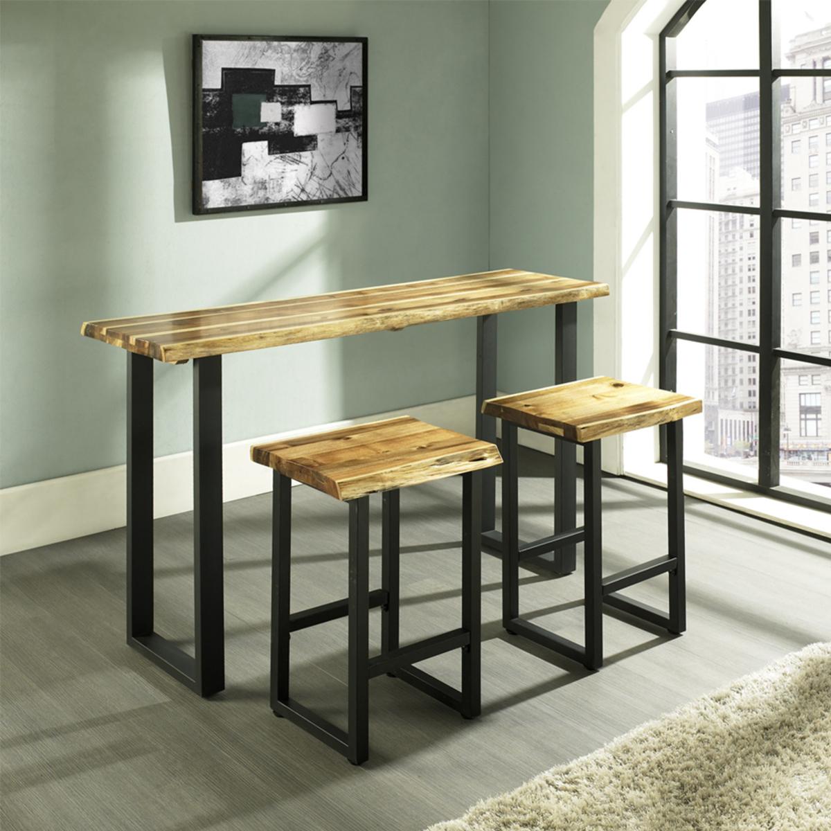 LFN吧台桌椅三件組