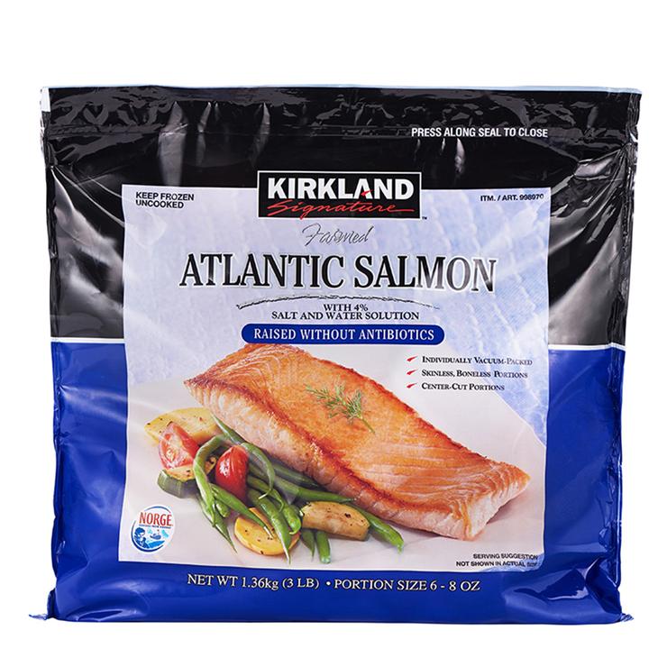Kirkland Signature 科克蘭 冷凍鮭魚排 1.36公斤 | Costco 好市多線上購物