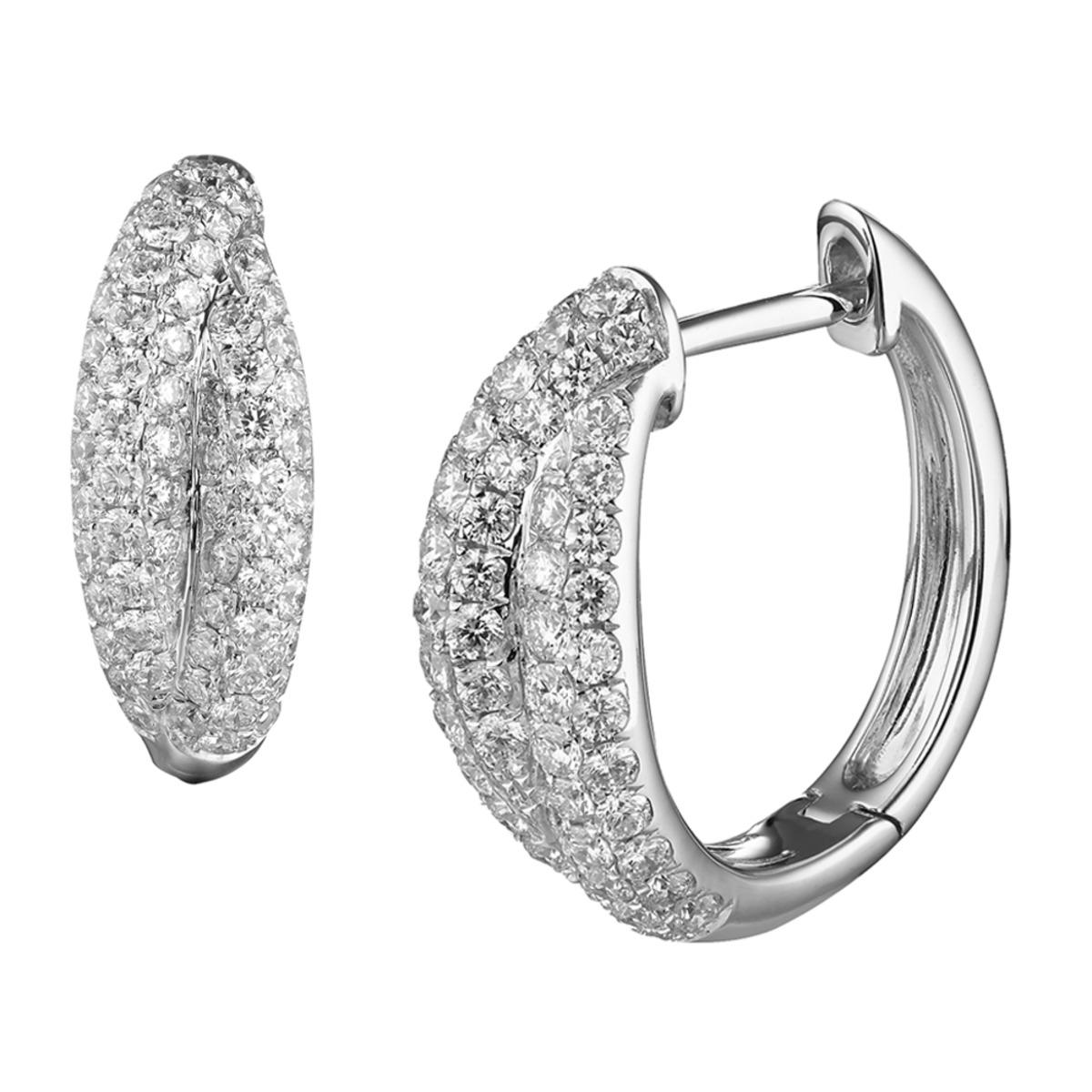 1克拉鑽石耳環 VS2, I