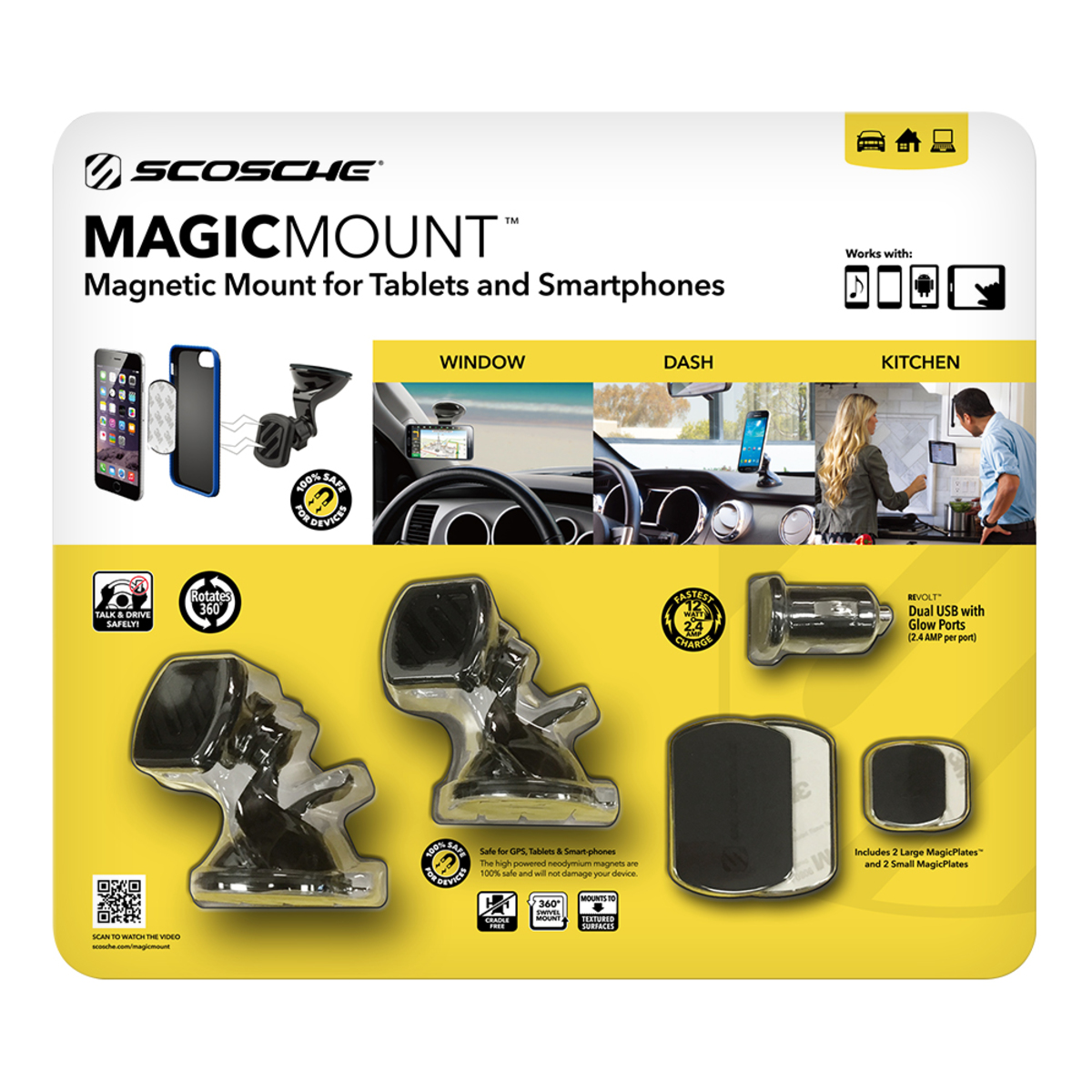 Scosche 磁吸式車用手機固定架
