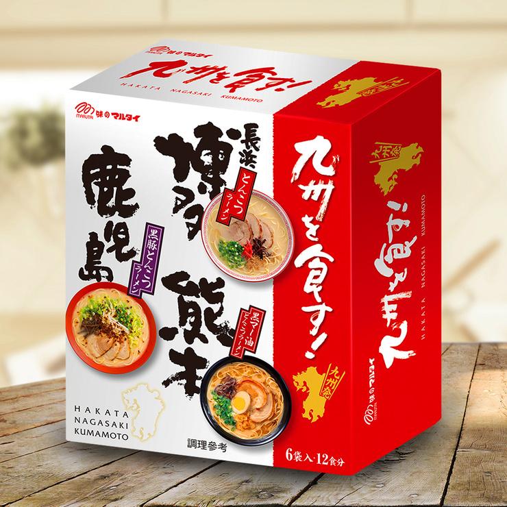 丸太 經典豚骨三款九州拉麵禮盒 - 3種口味 (185公克 X 6入)/組 1112公克
