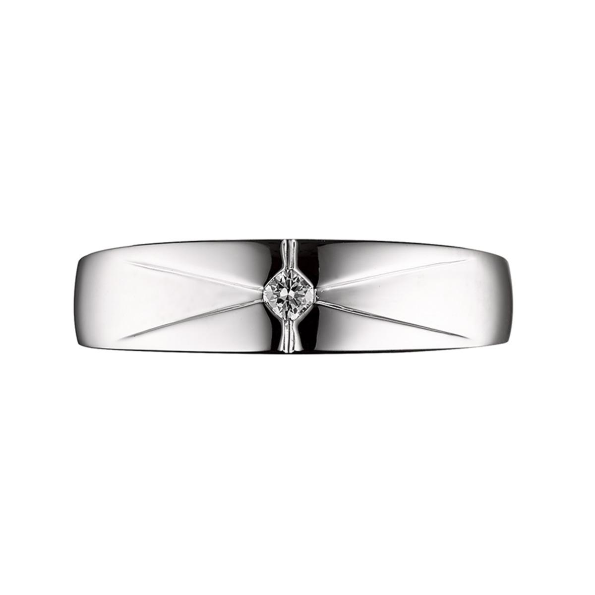 0.05 克拉男鑽石戒指 VS2, I