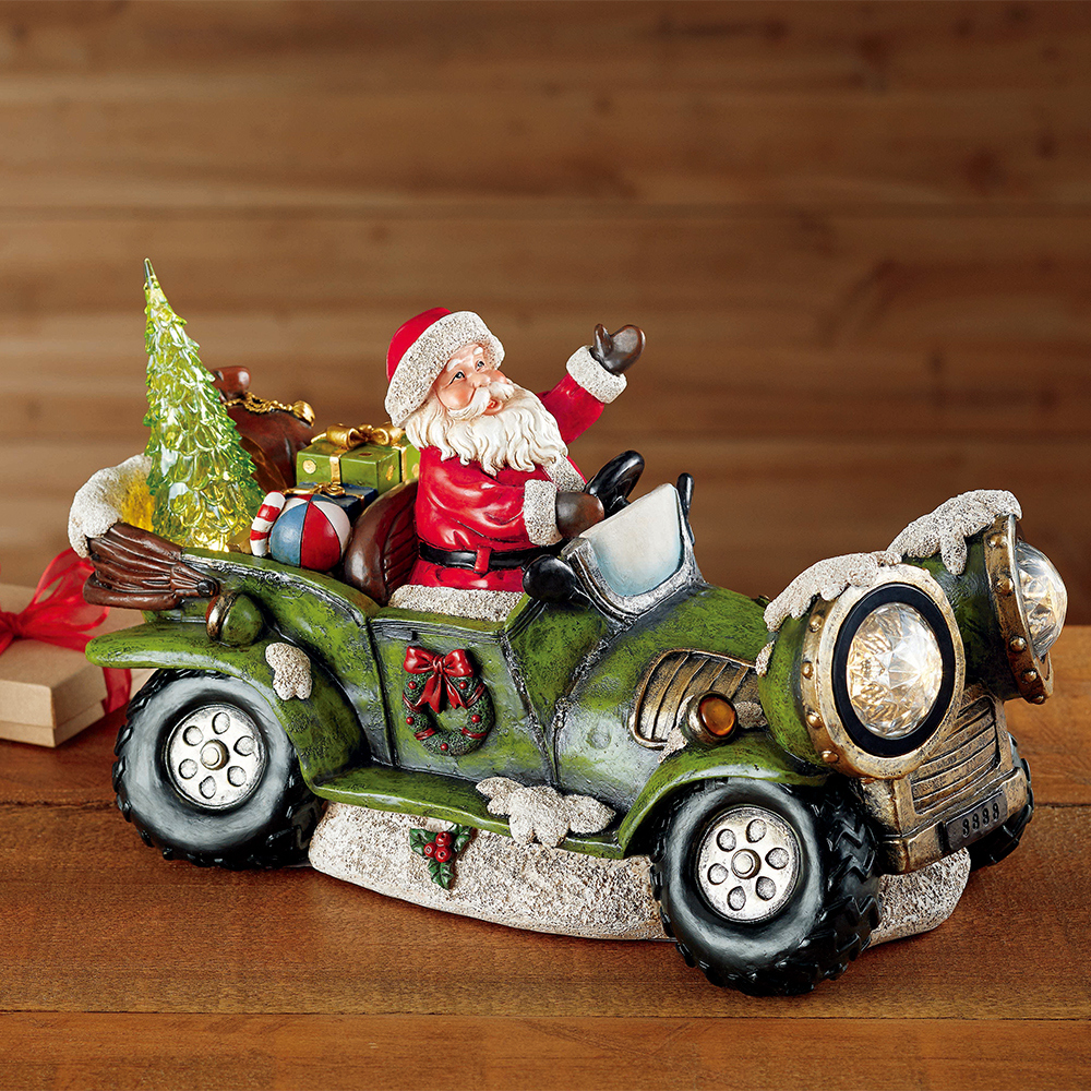 LED聖誕老人吉普車