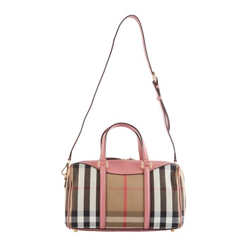 Burberry The Medium Alchester House 系列格紋皮革手提包