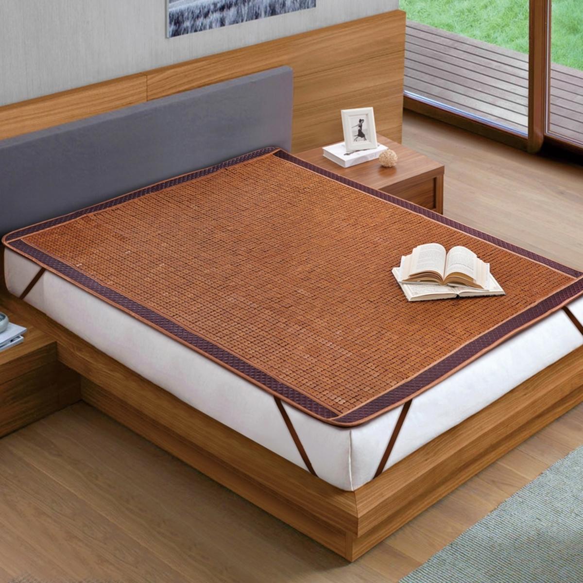 睡綿綿雙人加大嚴選純炭化竹涼蓆 180 x 186 公分