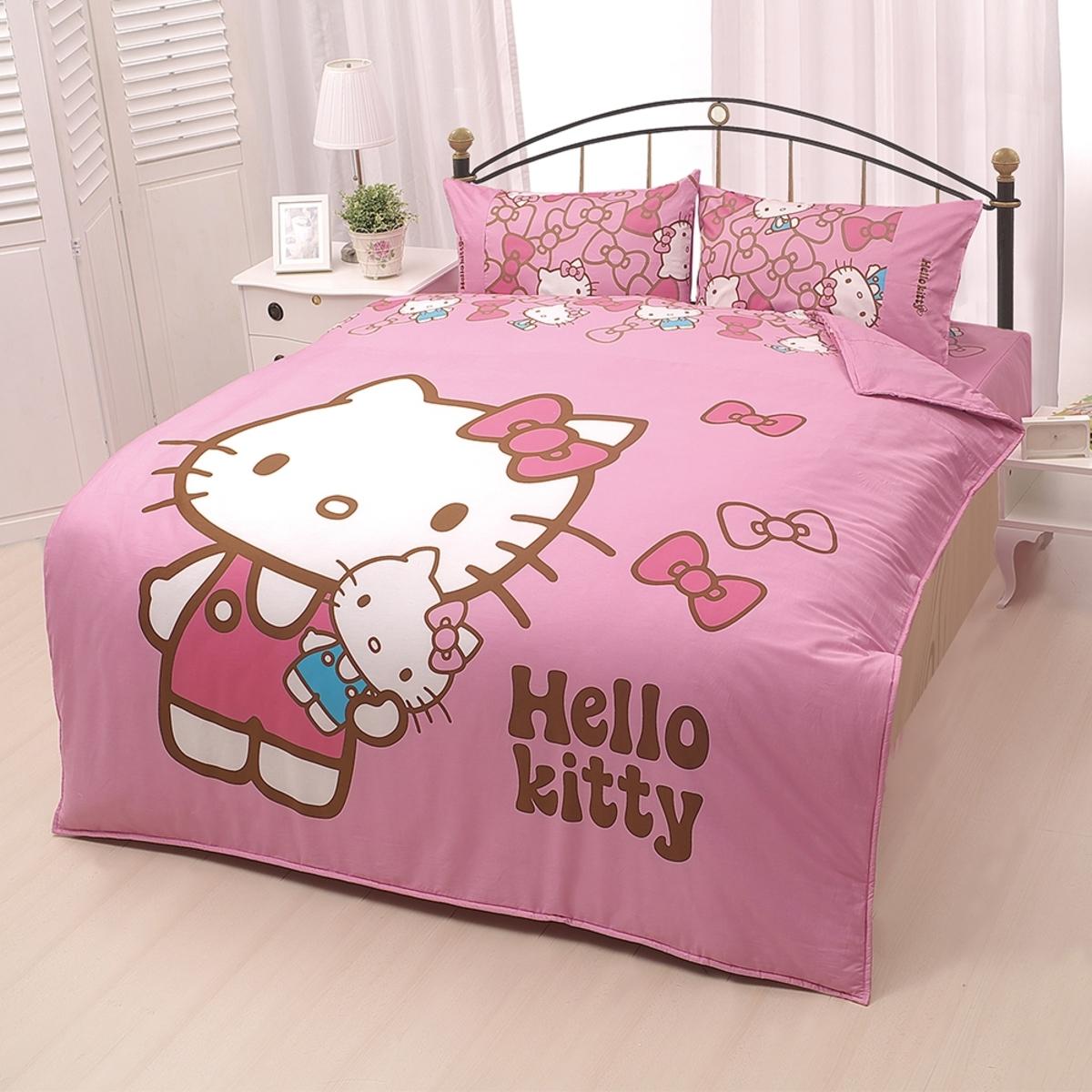 Hello Kitty 我的娃娃 雙人兩用被床包4件組